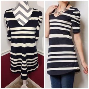 Anthropologie Deletta striped Tenda tunic